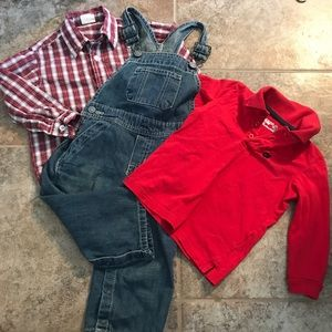 Other - 💎 Boys 2T Overalls & Shirt lot of 3 pcs